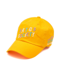 스티그마() OBLIQUE WASHED BASEBALL CAP YELLOW