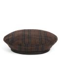와일드 브릭스(WILD BRICKS) WD TARTAN CHECK FLAT BERET (brown)