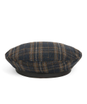 와일드 브릭스(WILD BRICKS) WD TARTAN CHECK FLAT BERET (navy)