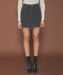 제이엠와이() Damaged Cutting Short Denim Skirt