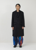 가쿠로() Chesterfield Coat - Cashmere (Black)