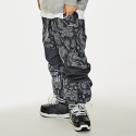 비에스래빗(BSRABBIT) DIAGONAL BOX JOGGER PANTS BLACK PAISLEY