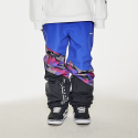 비에스래빗(BSRABBIT) DIAGONAL BOX JOGGER PANTS PURPLE CAMO