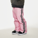 비에스래빗(BSRABBIT) DOUBLE LINE TAPE TRACK PANTS PINK