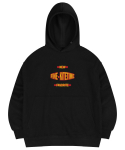 마실러() FINE HOODED SWEAT SHIRT BLACK