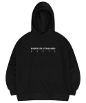 마실러() FRANC HOODED SWEAT SHIRT BLACK