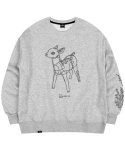 마실러() DEER CREWNECK GRAY