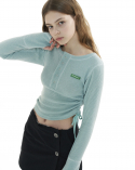 오드원아웃(ODDONEOUT) Colored sewing string top_mint