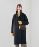 닉앤니콜(NICK&NICOLE) Wool Over Double Long Coat_Black
