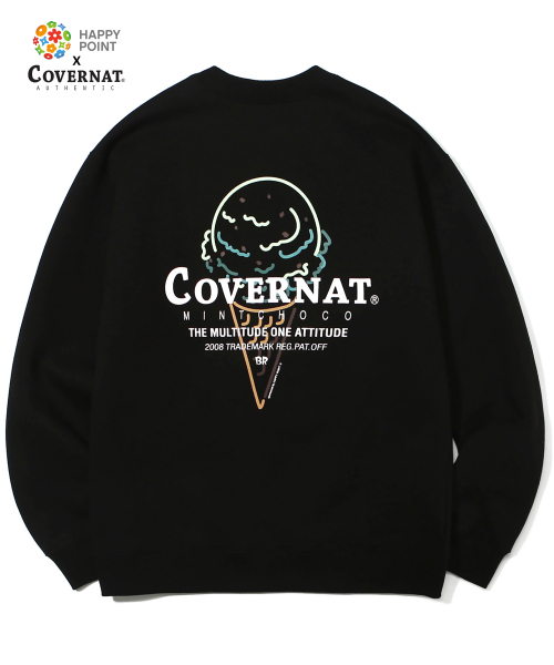 해피포인트(HAPPYPOINT) COVERNAT X BASKIN ROBBINS MINT CHOCO CREWNECK BLACK