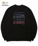 해피포인트(HAPPYPOINT) COVERNAT X PARIS BAGUETTE  BAKERY CREWNECK BLACK
