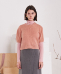 티엠오 바이 써틴먼스(TMO BY 13MONTH) ROUND NECK KNIT SWEATER (PINK)