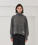 티엠오 바이 써틴먼스(TMO BY 13MONTH) SEPARABLE VEST TURTLENECK SWEATER (GRAY)