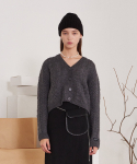 티엠오 바이 써틴먼스(TMO BY 13MONTH) TWISTED SHORT WOOL CARDIGAN (GRAY)