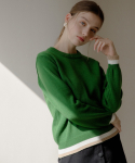 엽페(YUPPE) COLOR ROUND KNIT_GREEN