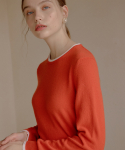 엽페(YUPPE) CASHMERE COLOR KNIT_ORANGE