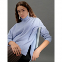 오이아우어() Side Slit Knit Pullover in Sky Blue