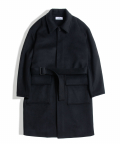 아워스코프(OURSCOPE) Belted Wool Coat (Black)
