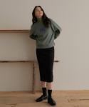 리올그(REORG) SUEDE BACK SLIT SKIRT BLACK