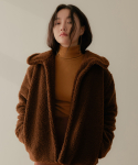 리올그() ECO-FUR SHORT JACKET BROWN
