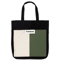 필인더블랭크() BLANK ECO BAG (Black/white-khaki)