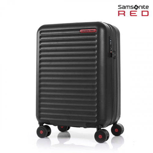 samsonite red 24 black carrier