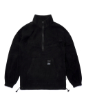 스티그마(STIGMA) TRIANGLE FLEECE OVERSIZED ANORAK JACKET BLACK