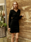 Lace Knit One piece in Black_VK9WO0760