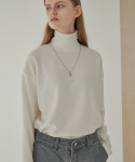 트립르센스(TRIP LE SENS) BASIC TURTLENECK POLA KNIT_WHITE