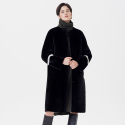 핀블랙() REVERSIBLE MERINO MUSTANG LONG COAT BLACK