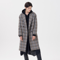 핀블랙() HANDMADE CHECK COAT KHAKI BROWN