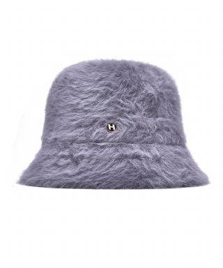 하이스쿨디스코(HIGH SCHOOL DISCO) H fur bucket hat_gray