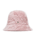 하이스쿨디스코(HIGH SCHOOL DISCO) H fur bucket hat_pink