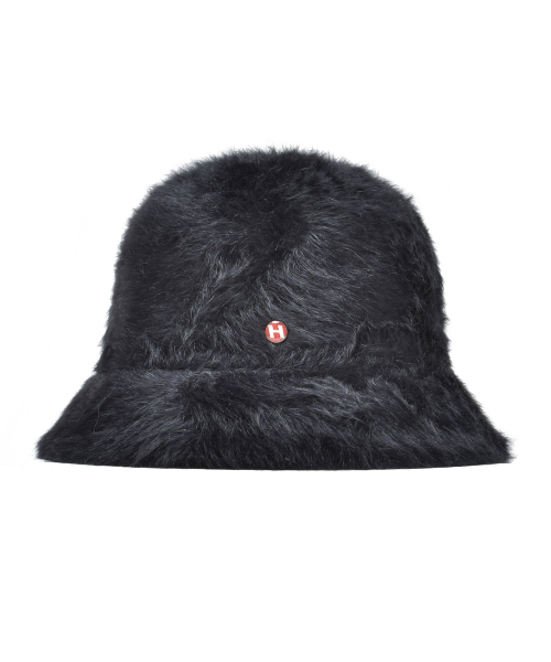 하이스쿨디스코(HIGH SCHOOL DISCO) H fur bucket hat_black