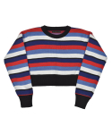 하이스쿨디스코() disco point stripe crop knit