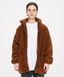 디프리크() Oversized Shearling Jacket - Brown