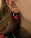 메리모티브(MERRYMOTIVE) Red point 3set mini earring