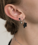 메리모티브(MERRYMOTIVE) Black point 3set mini earring