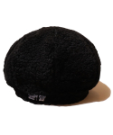 슬리피슬립(SLEEPYSLIP) [unisex]FUR BLACK NEWSBOY CAP