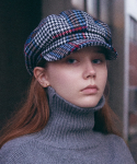 슬리피슬립(SLEEPYSLIP) [unisex]HOUND CHECK MIX NEWSBOY CAP