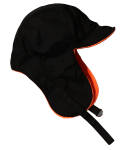 슬리피슬립(SLEEPYSLIP) [unisex]F/W REVERSIBLE SATIN TROOPER HAT BLACK/ORANGE