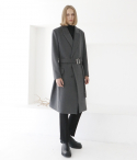효지노리코(HYOJI NORIKO) Winter classic long trench coat ver2 (차콜)