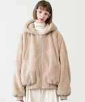 레이디 볼륨(LADY VOLUME) Reversible bear jacket_beige