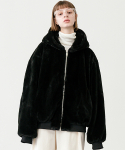 레이디 볼륨(LADY VOLUME) Reversible bear jacket_black