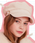 러브이즈트루(LUV IS TRUE) MD NEWSBOY CAP(2 color)
