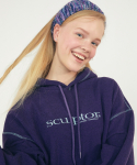 스컬프터(SCULPTOR) Fuzzy Coverstitch Hoodie [PURPLE]