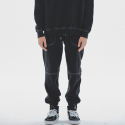 피버41(FIBBER41) NEEDLE WORK SWEAT PANT black