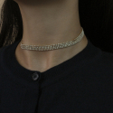포스트루드(POSTLUDE) S LINE PEARL CRY CHOCKER (2 COLORS)