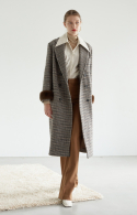누보텐() houndstooth check long coat