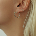 리엔느와르(leeENoir) N-Heart Earring (2color)